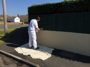 external wall painting bristol